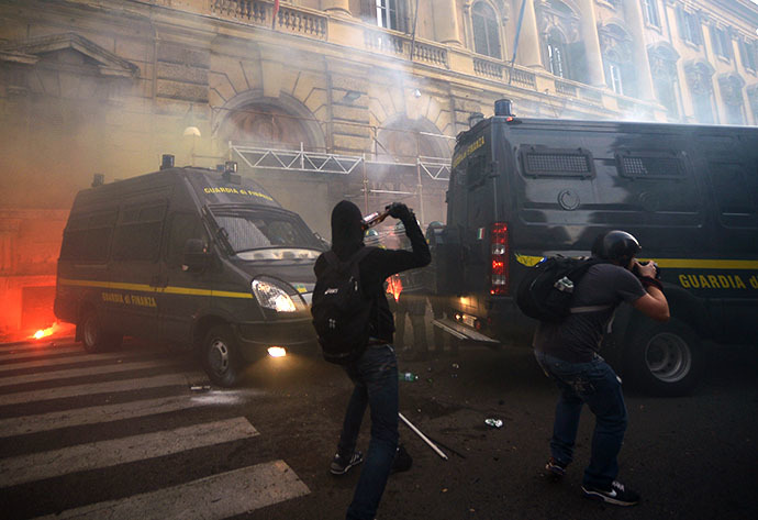 ITALY-ECONOMY-PROTEST