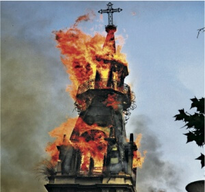 church-blaze